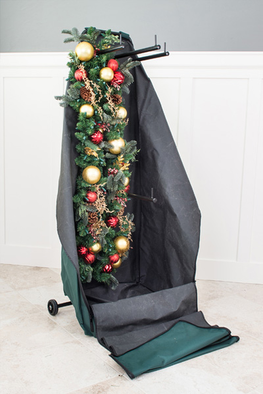 Christmas Garland Wreath Protective Deluxe Rolling Storage Bag Holds 4 Large Garlands