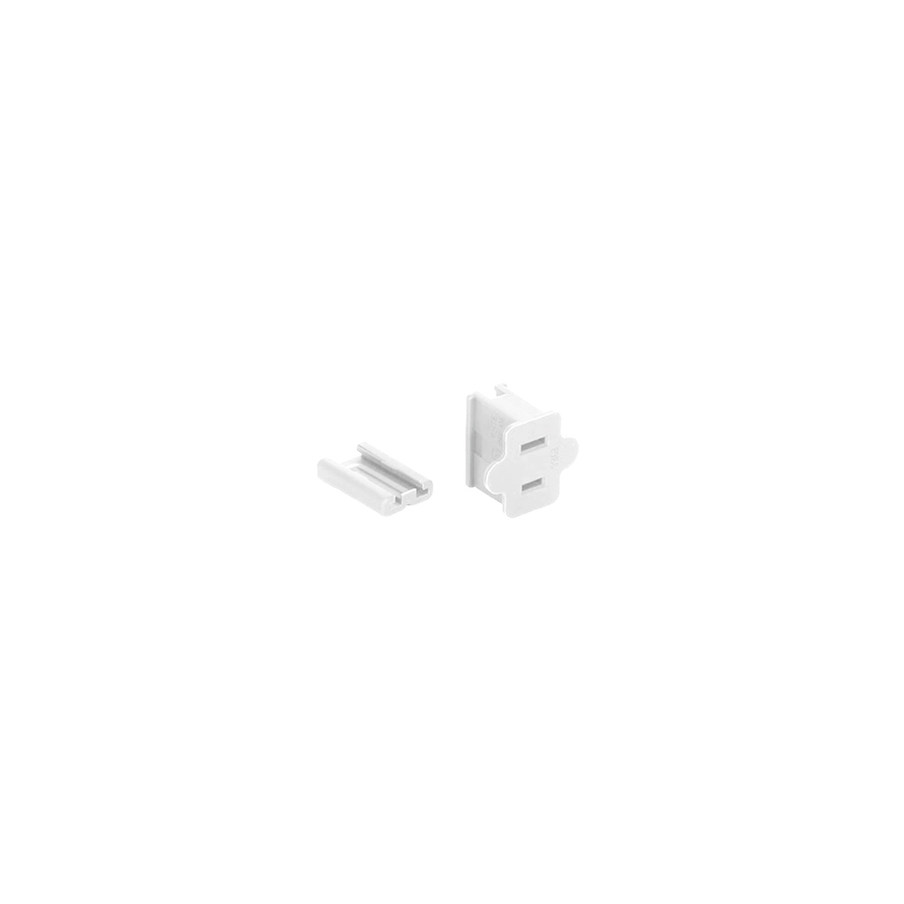 White Female Quick Zip Plug For SPT-1 18 Wire Gauge 8 Amps ...