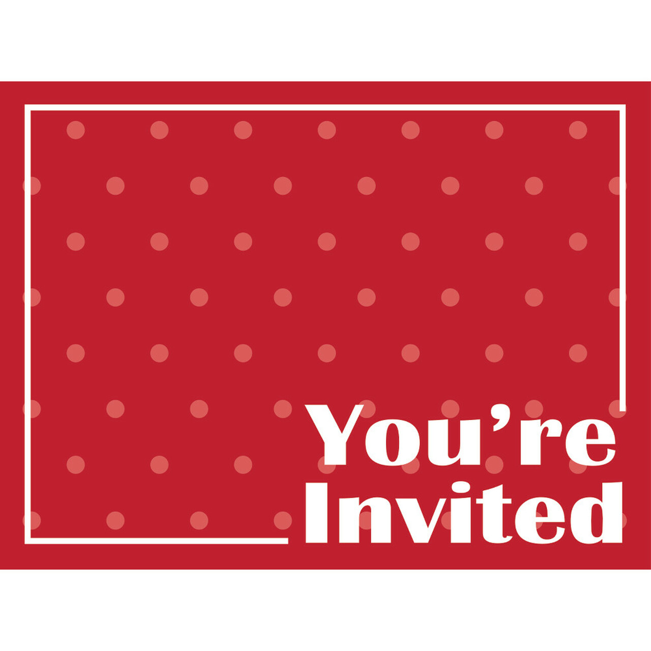 Club Pack of 48 Decorative Classic Red with Polka-Dot Postcard Party ...