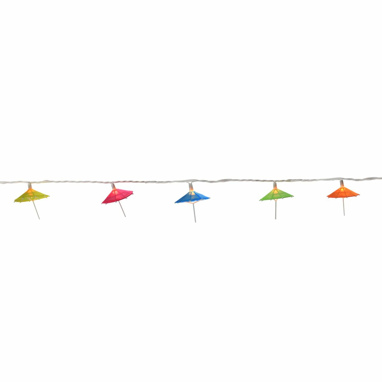 Set Of 10 Colorful Sun Umbrella Patio Garden Novelty Christmas Parallel Light Wiring Diagram And Lights White Wire 32208241