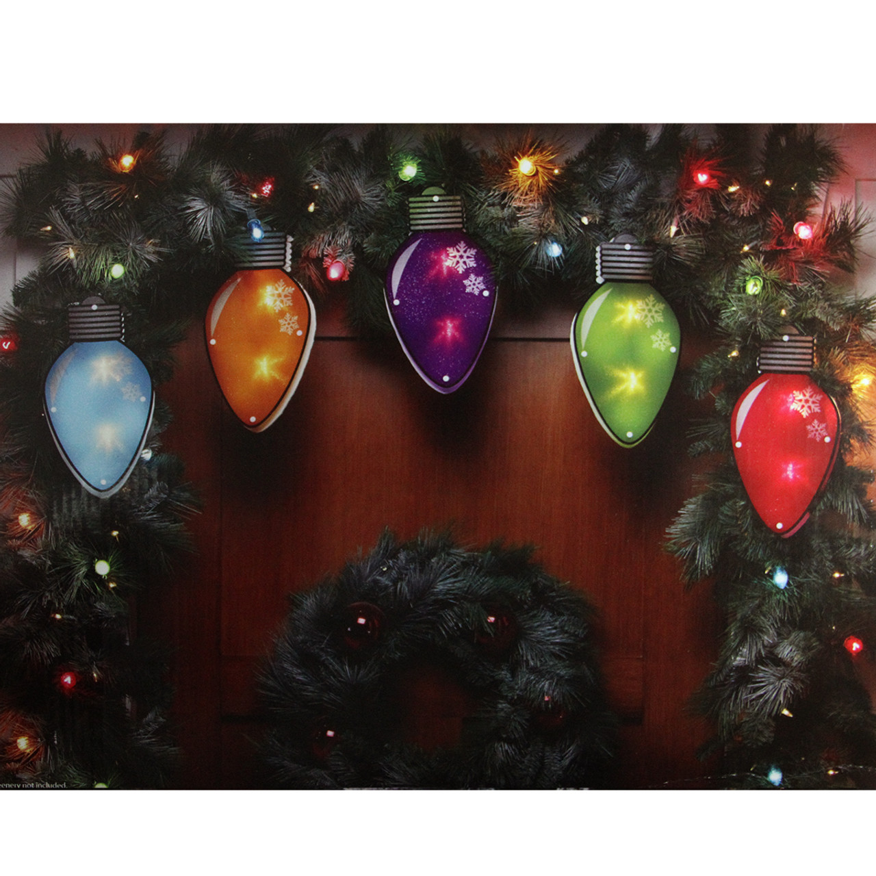 725 multi color shimmering c7 bulb christmas light garland with 10 clear mini lights white wire 31728963