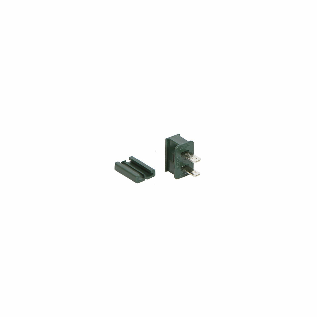 Green Male Quick Zip Plug For SPT-1 18 Gauge Wire 8 Amps | Christmas ...