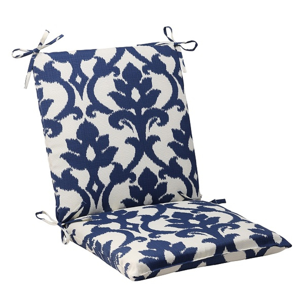 """36.5"""" Navy Blue & White Victorian Floral Outdoor Patio ..."""