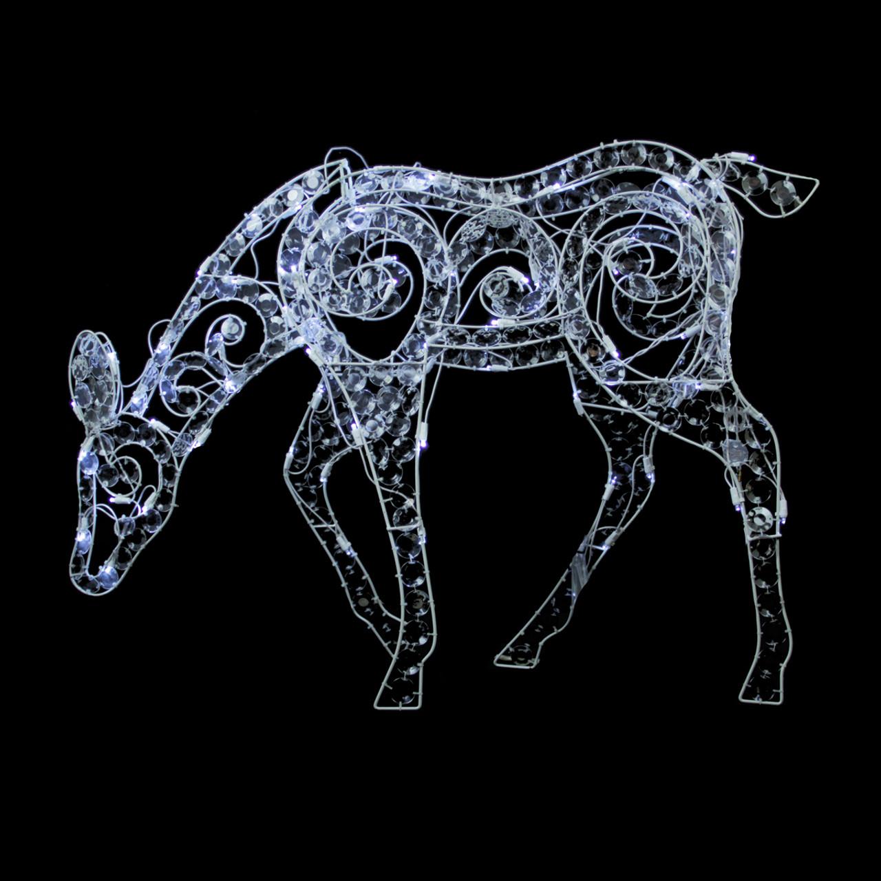 """36"""" Clear Acrylic Feeding Doe Reindeer LED Lighted ..."""