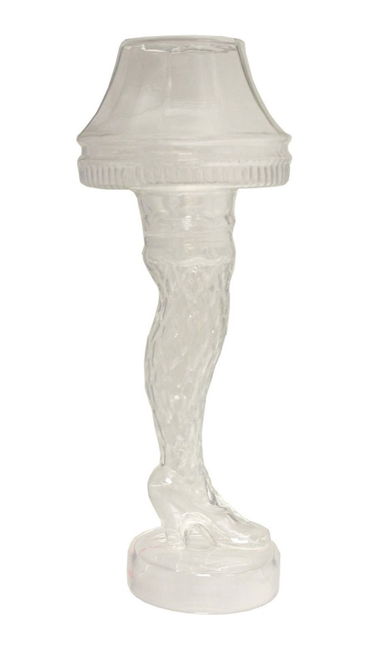 A Christmas Story Clear Molded Leg Lamp Holiday Glass 18 Oz