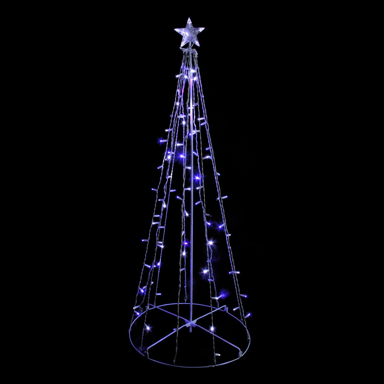 5 blue white led lighted outdoor twinkling christmas tree decoration 23148761 - Blue And White Outdoor Christmas Decorations
