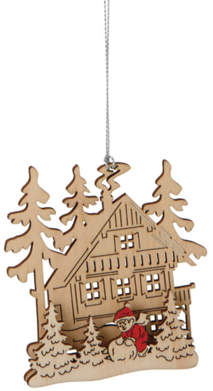 4 alpine chic laser cut snowball winter scene wooden christmas ornament 31425054