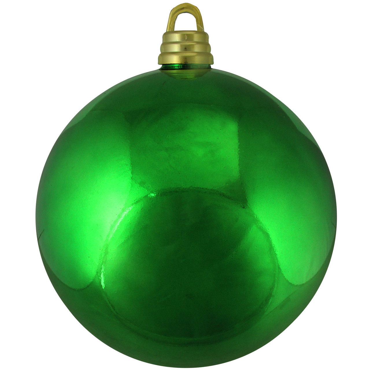 Shatterproof Shiny Xmas Green Christmas Ball Ornament 12 ...