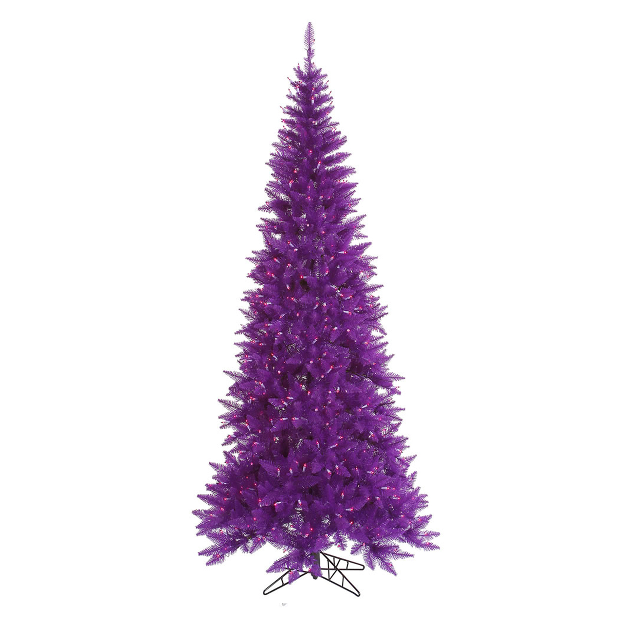 10' Pre-Lit Slim Purple Ashley Spruce Christmas Tree