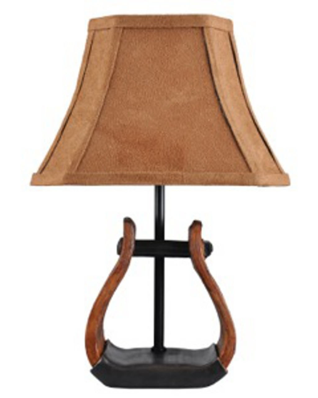 Set Of 2 Country Western Cowboy Stirrup Accent Lamps With