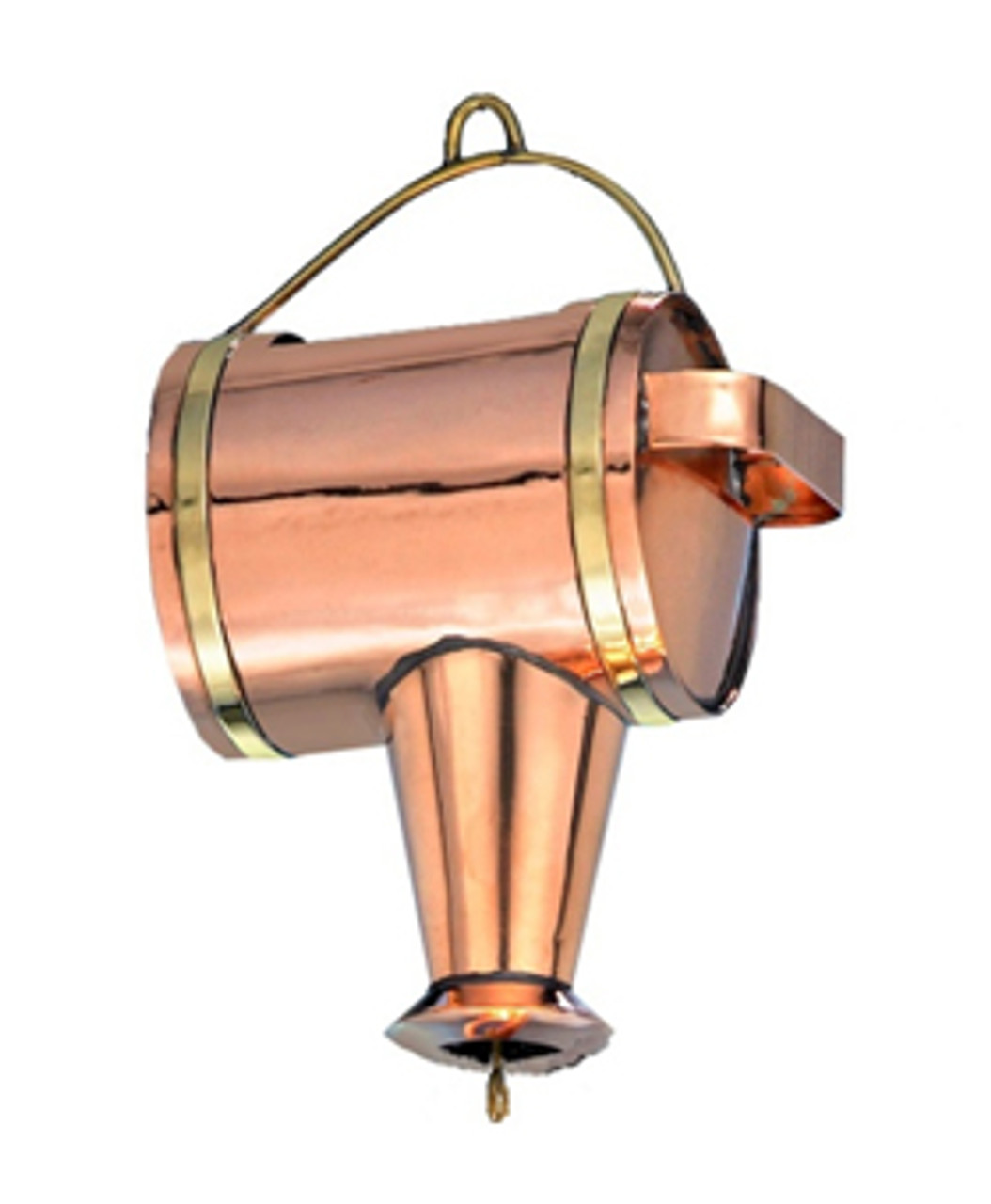 11 Quot Handcrafted Polished Copper Watering Can Rain Chain