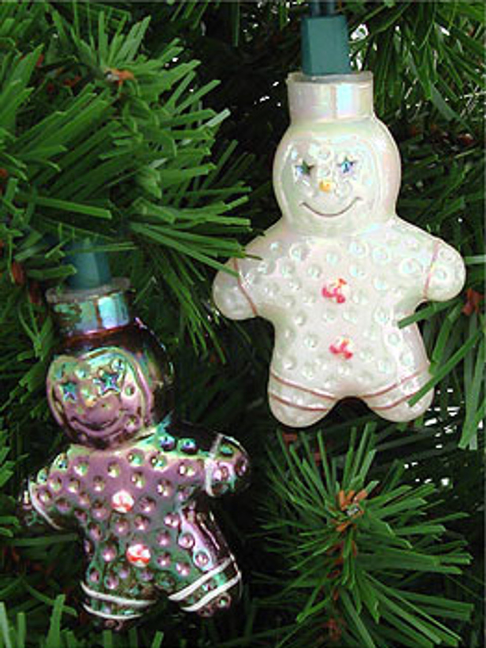 set of 10 gingerbread man novelty christmas lights green wire 6611925