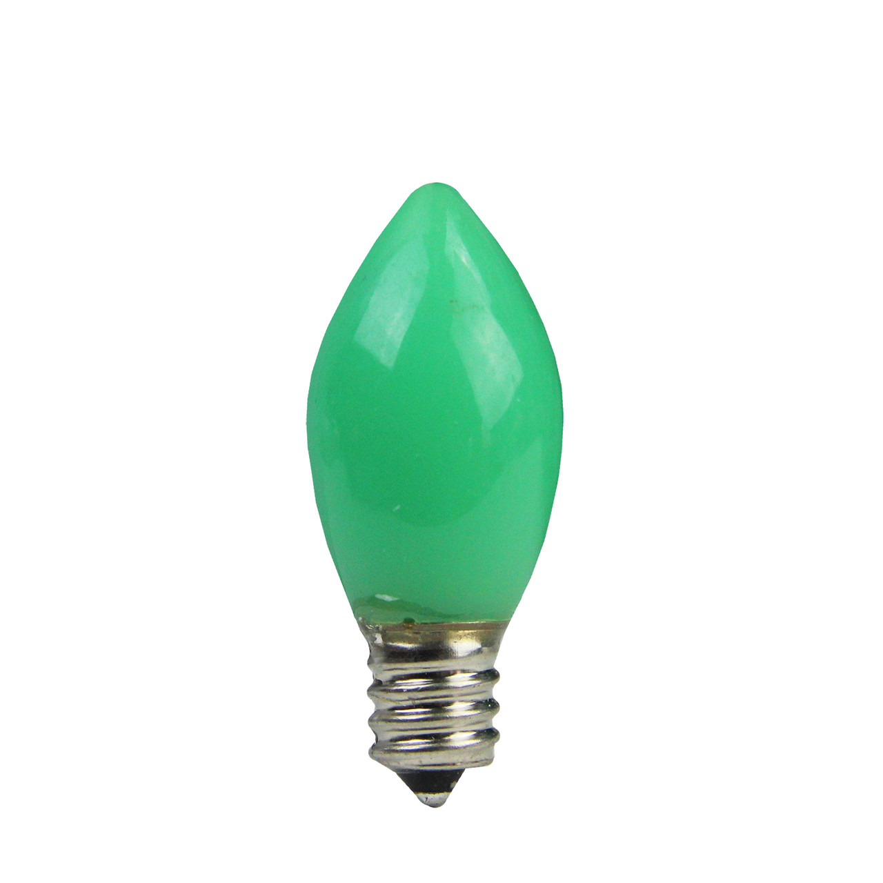 pack of 4 opaque green led c7 christmas replacement bulbs 31743046 - Christmas Replacement Bulbs