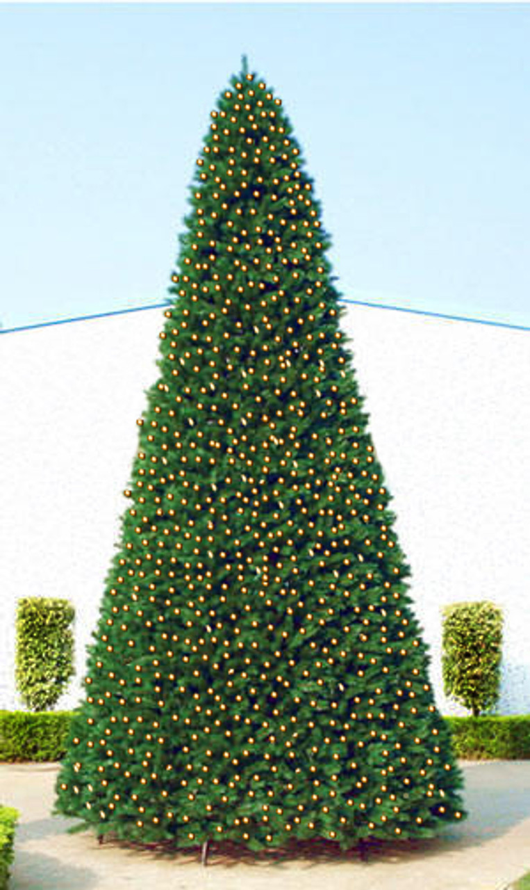 40 giant pre lit everest fir commercial christmas tree multi led lights 31565941