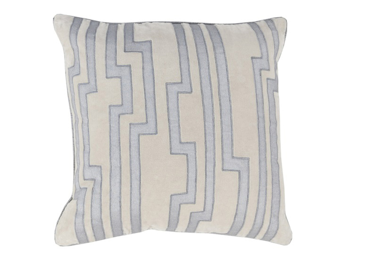 Light Blue Patterned Throw Pillow : 18
