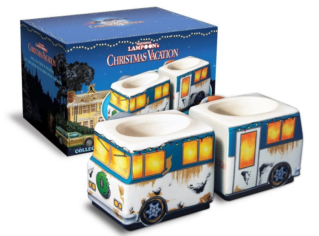 set of 2 national lampoons christmas vacation rv molded mugs 9 oz 31749100 - National Lampoons Christmas Vacation Merchandise