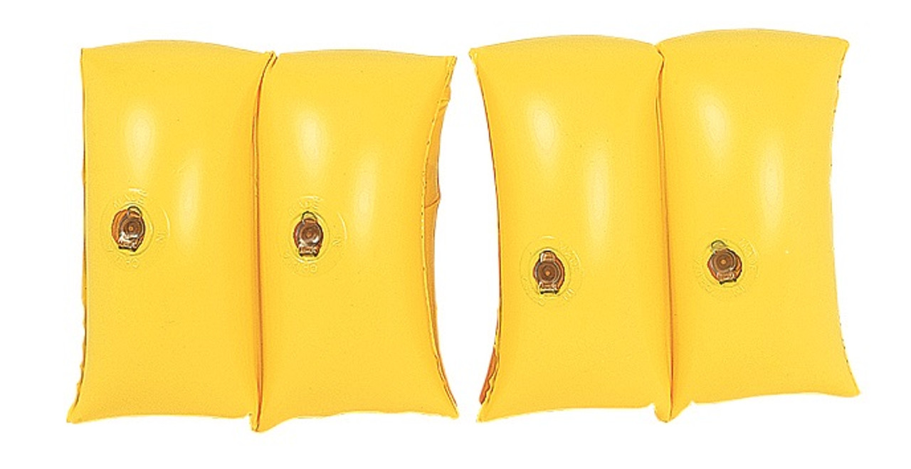 set of 2 yellow inflatable swimming pool arm floats for kids 3 6 years 32148647