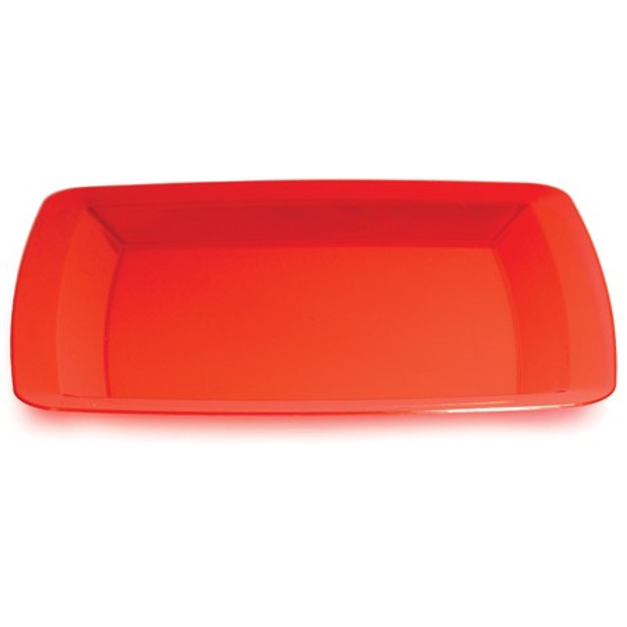 Club Pack of 48 Translucent Red Plastic Square Party Banquet Dinner Plates 10.25  - 31379357  sc 1 st  Christmas Central & Club Pack of 48 Translucent Red Plastic Square Party Banquet Dinner ...