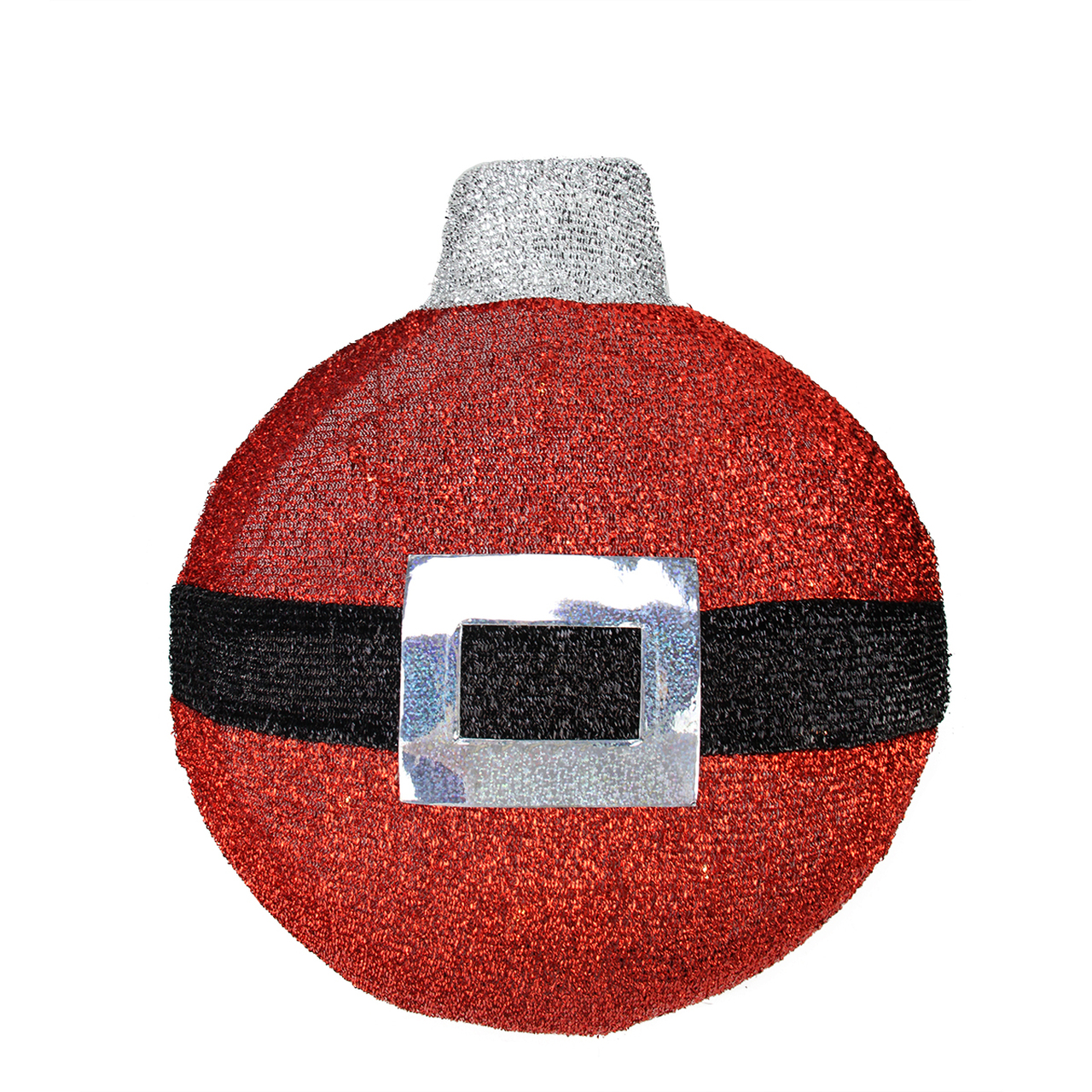 1725 led lighted red and black tinsel santa belt ornament hanging christmas wall decoration 31581391 - Lighted Christmas Wall Decorations