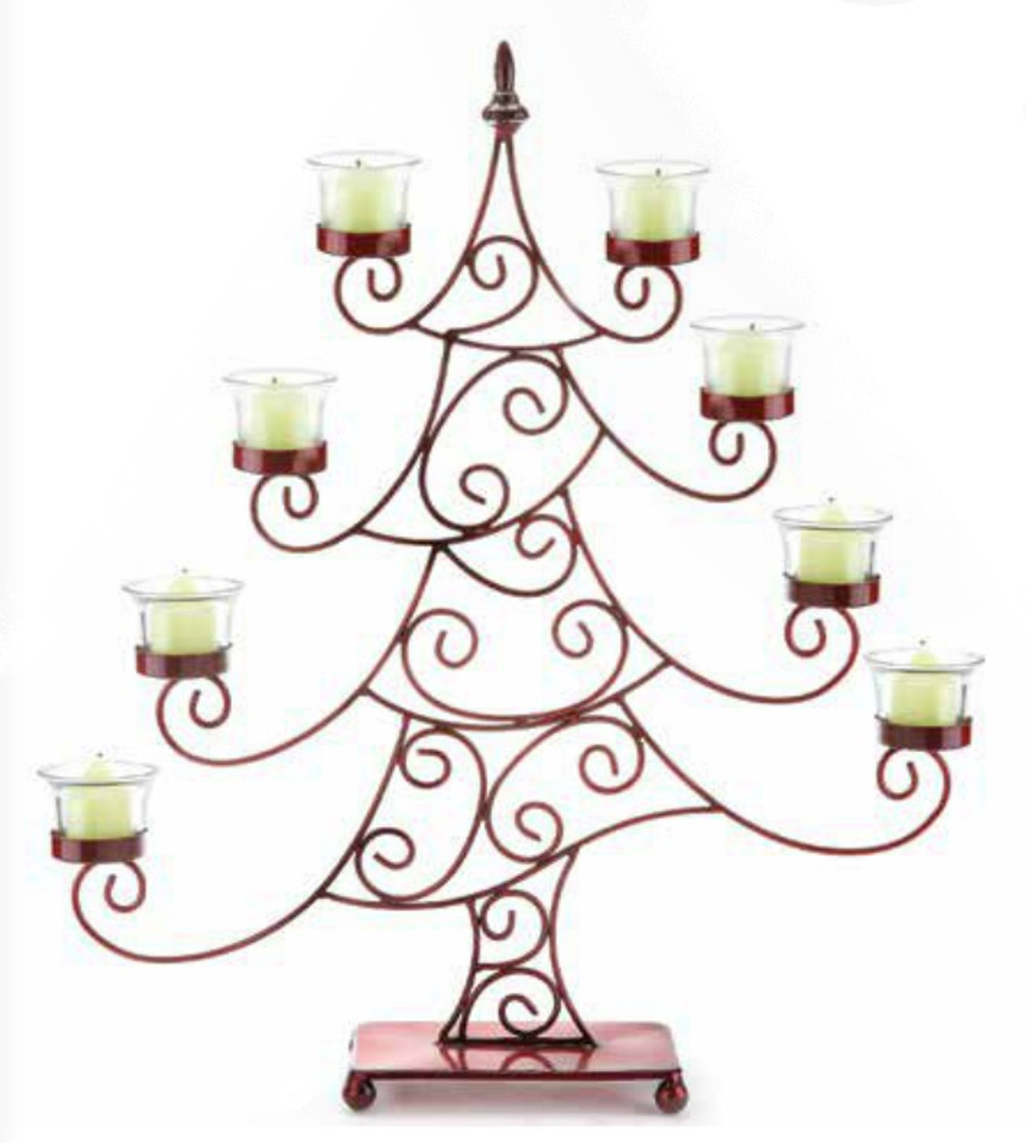 215 decorative red whimsical christmas tree votive candle holder 31572634 - How To Decorate Votive Candle Holders For Christmas