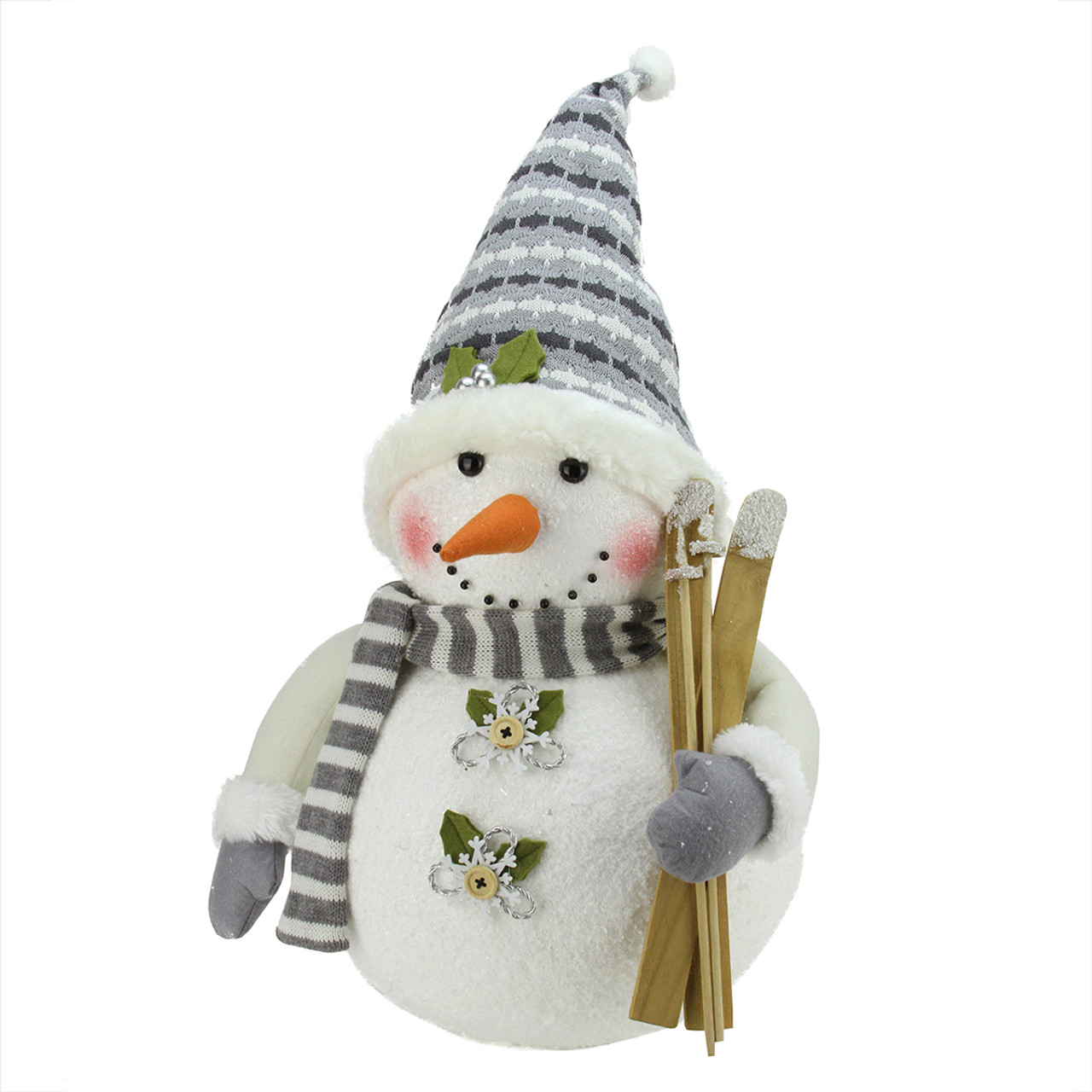 20 alpine chic snowman with skis snowflake buttons for Alpine decoration