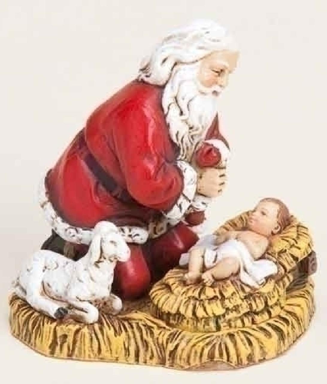 Joseph\'s Studio Kneeling Santa with Baby Jesus Christmas Ornament ...