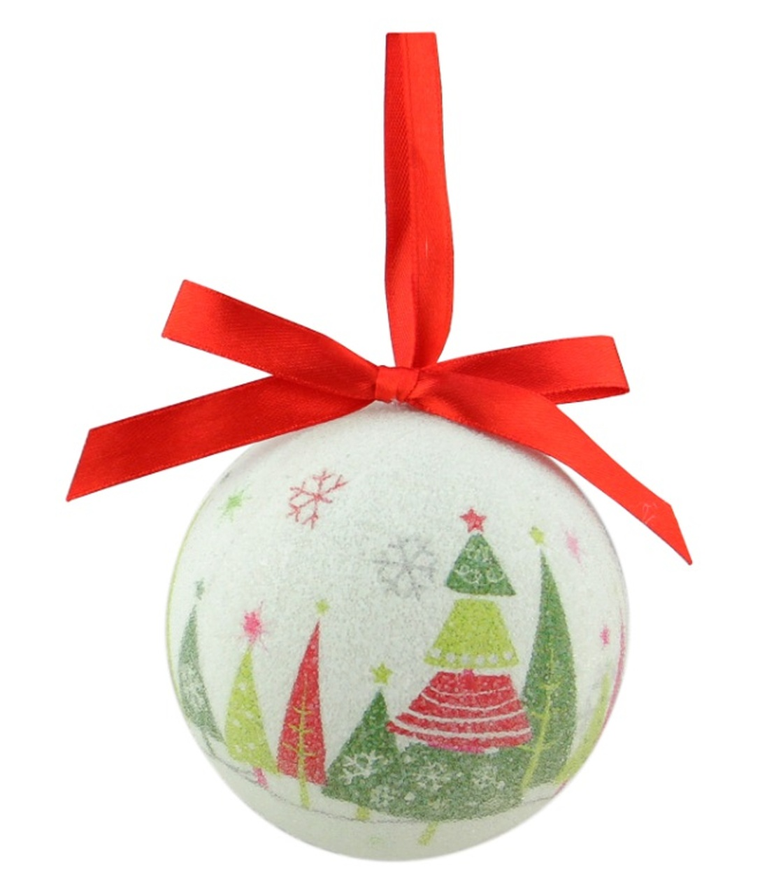 7 piece whimsical red white and green decoupage shatterproof christmas ball ornament set 275 32206935