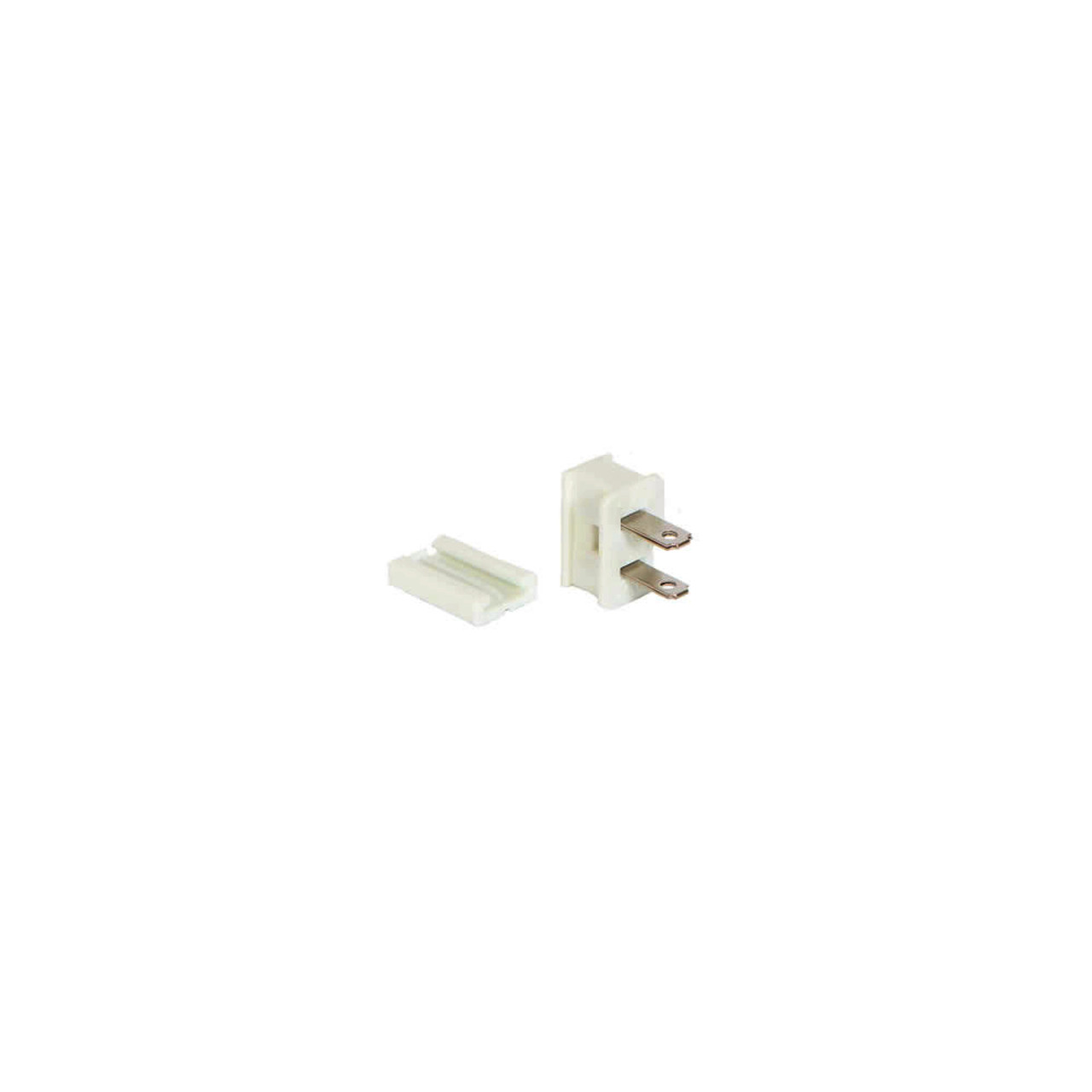 White Male Quick Zip Plug For SPT-1 18 Wire Gauge 8 Amps | Christmas ...