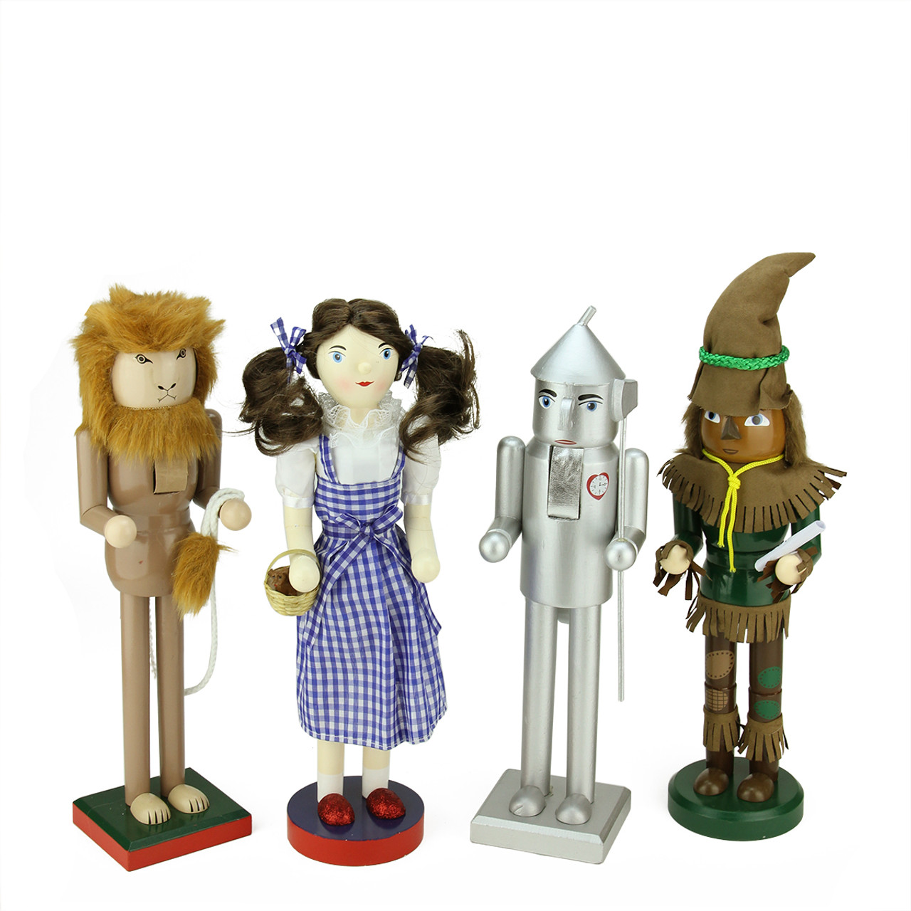 Set of 4 Decorative Wizard of Oz Wooden Christmas Nutcrackers ...