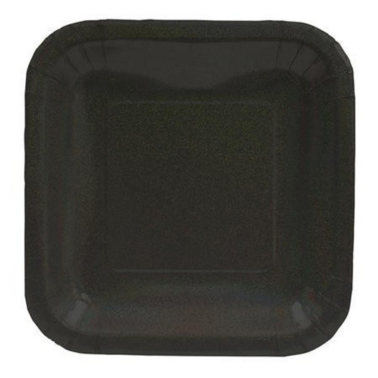 pack of 96 black glitz prismatic square christmas banquet party paper plates 10 31009325 - Christmas Plastic Plates