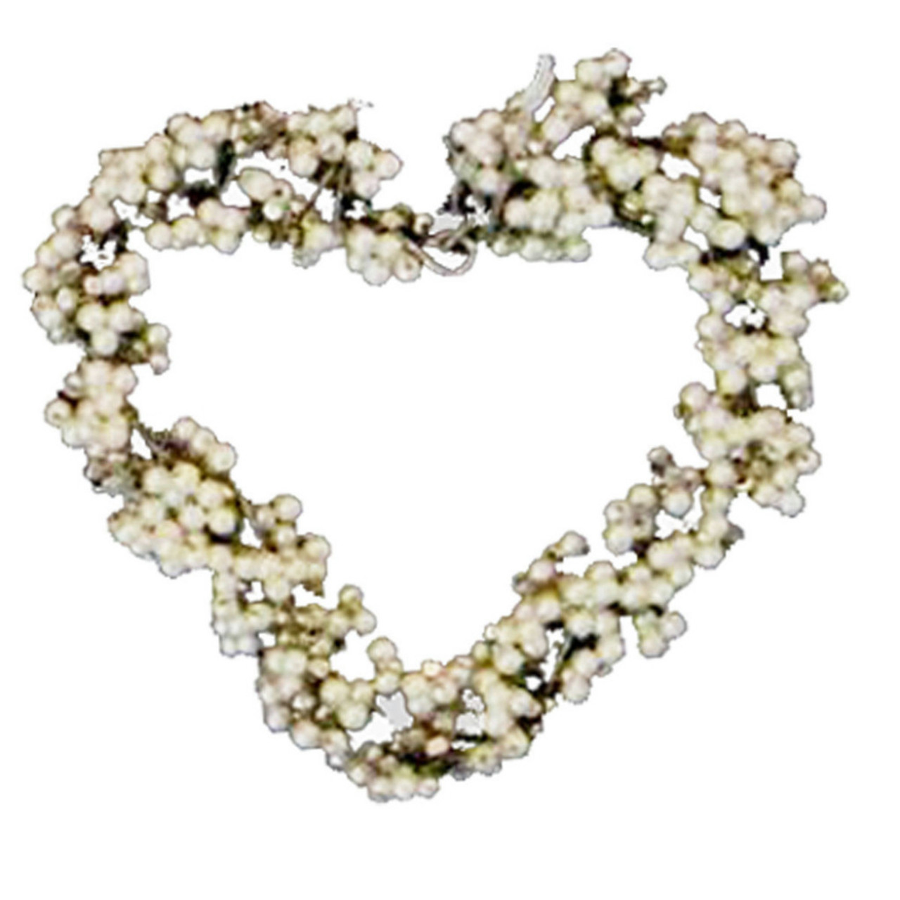 set of 4 hand crafted white pearl beaded heart christmas wedding