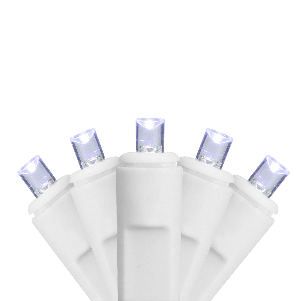 set of 70 cool white led twinkling commercial wide angle icicle christmas lights white wire 31466651