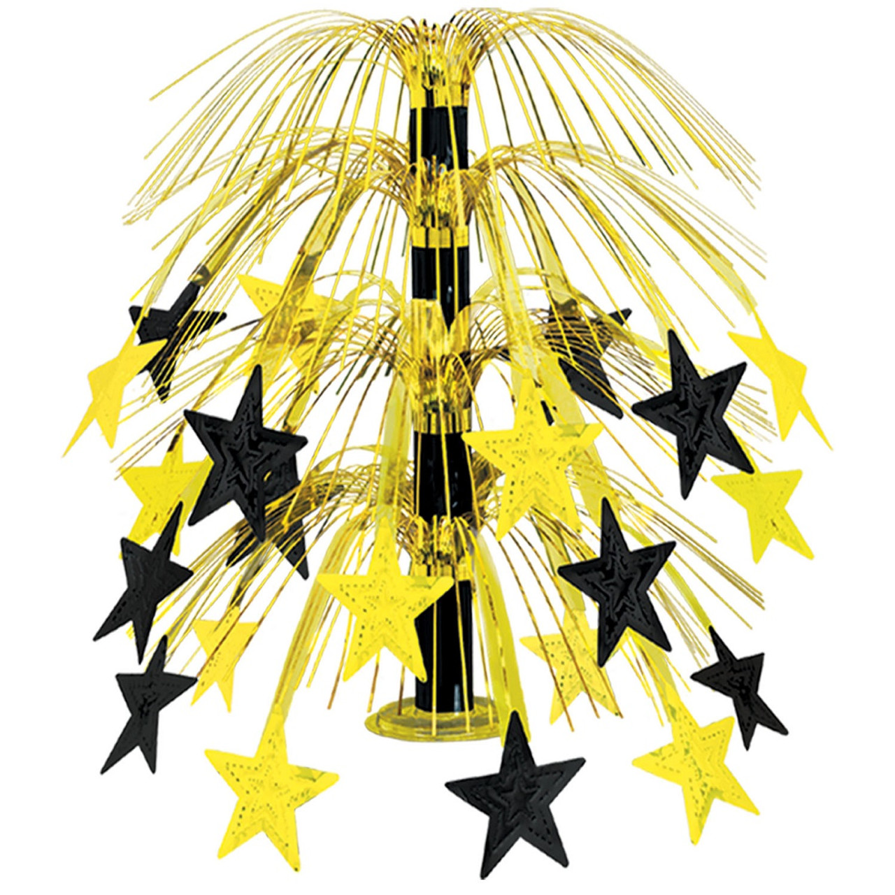 club pack of 6 black gold cascade star cut out table centerpiece