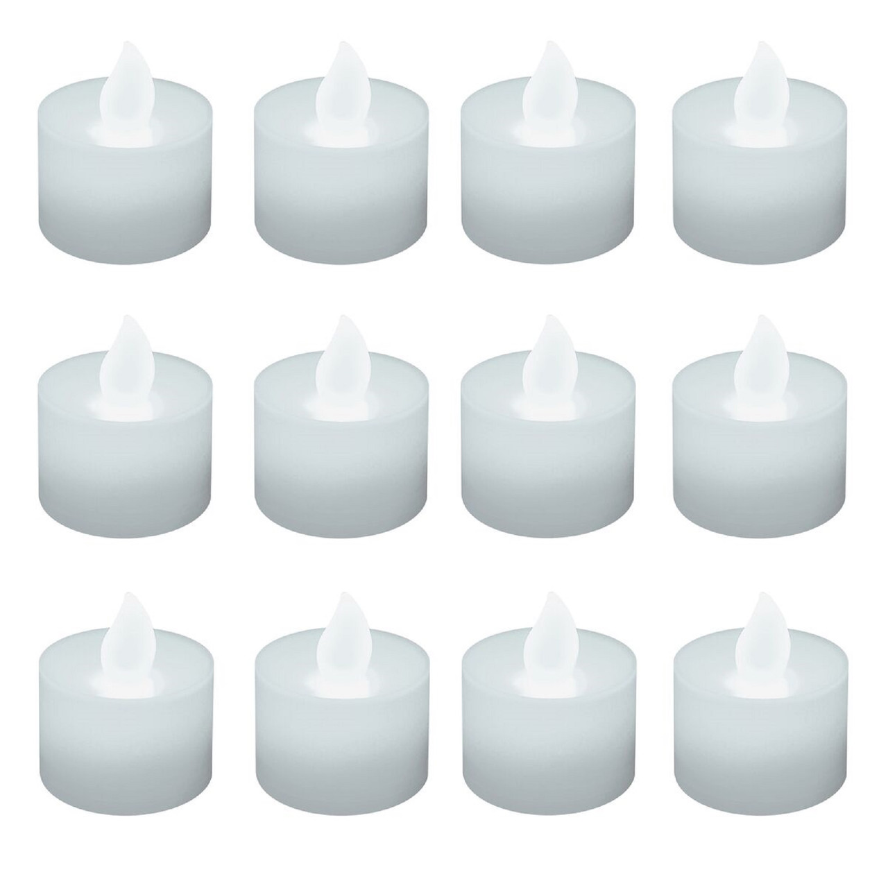 club pack of 12 battery operated led ultra bright white tea light candles 30851533 - Christmas Decorations Battery Operated Candles