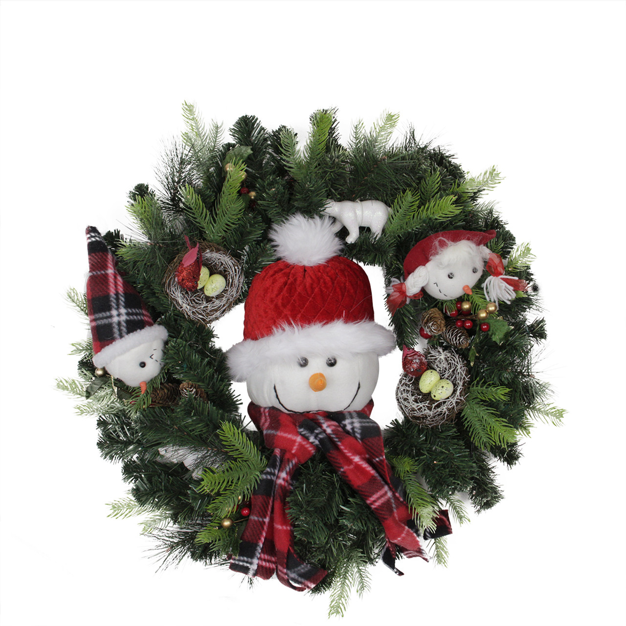 24 pre lit battery operated musical artificial christmas wreath warm clear led lights 31743621 - Pre Lit Battery Operated Christmas Wreath