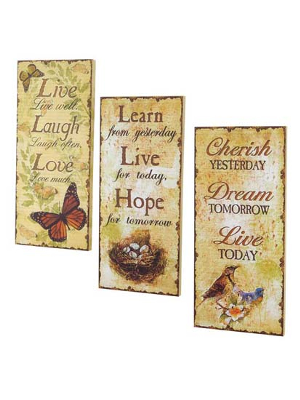 Pack of 6 Nature\'s Way Collection Nature Themed Canvas Wall Decor 20 ...