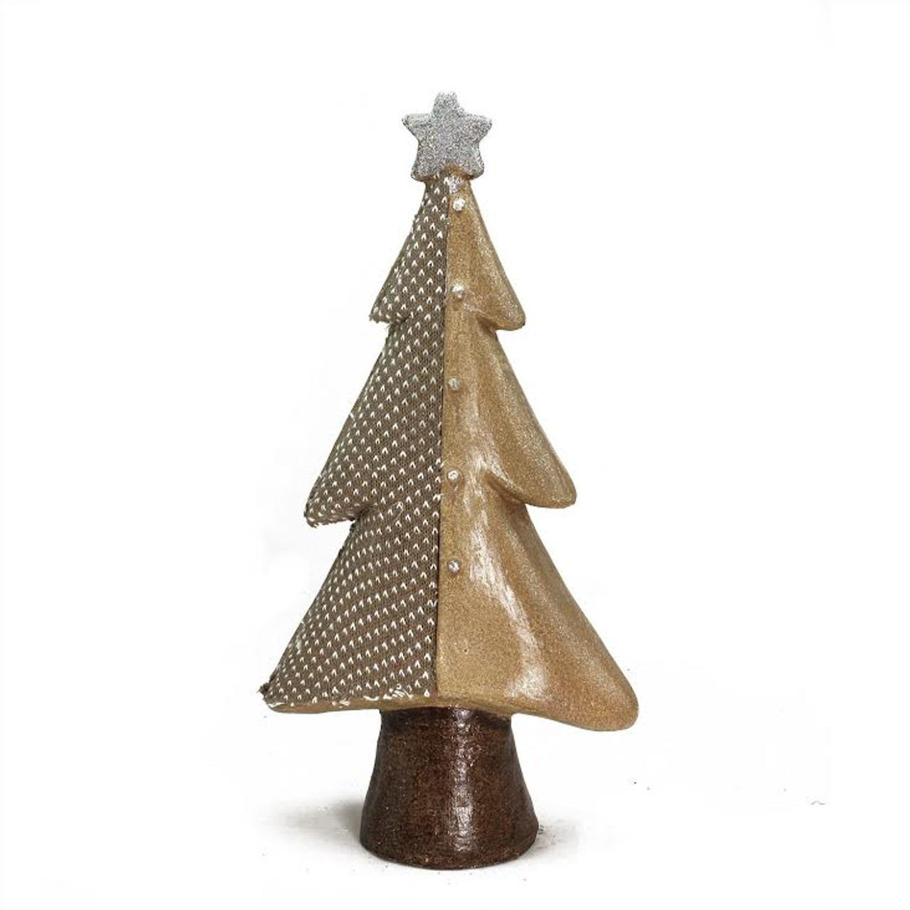 "18"" Brown Textured Eco-Friendly Christmas Tree Tabletop ..."