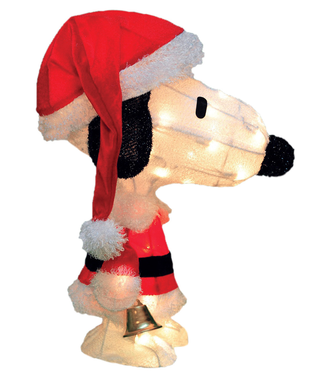 18 pre lit peanuts soft tinsel santa claus snoopy christmas outdoor decoration clear lights 31465576 - Lighted Snoopy Mailbox Outdoor Christmas Decoration