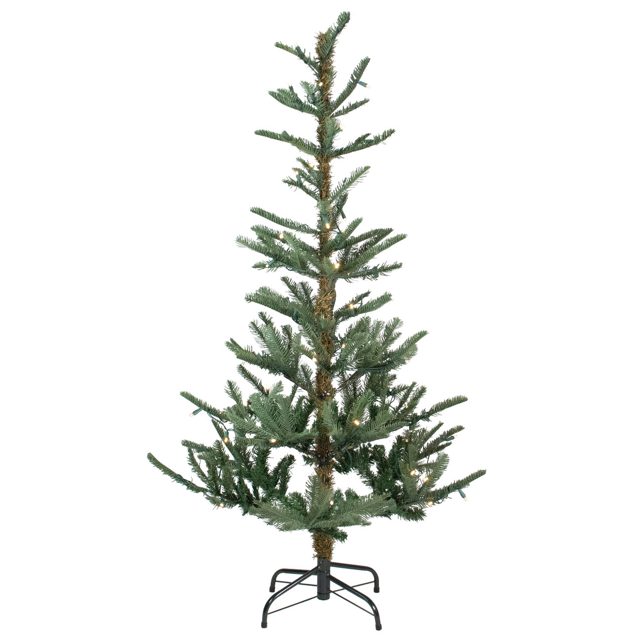 4.5\' Pre-Lit Layered Noble Fir Artificial Christmas Tree - Warm ...