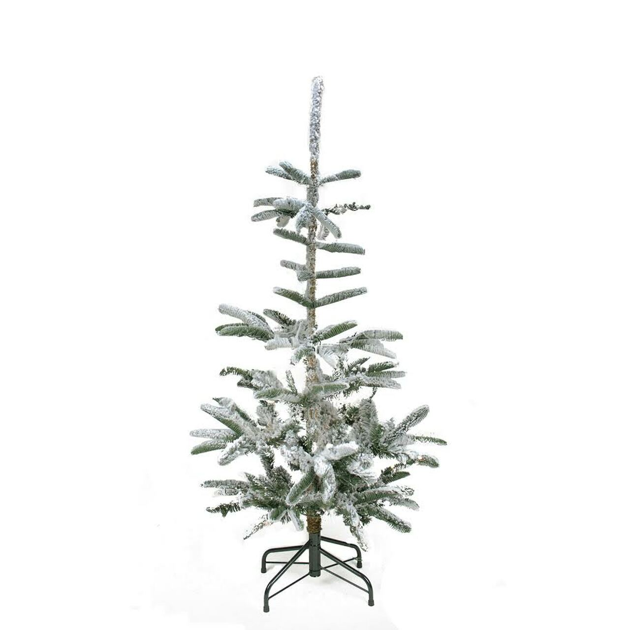 4.5\' Flocked Noble Fir Artificial Christmas Tree - Unlit | Christmas ...