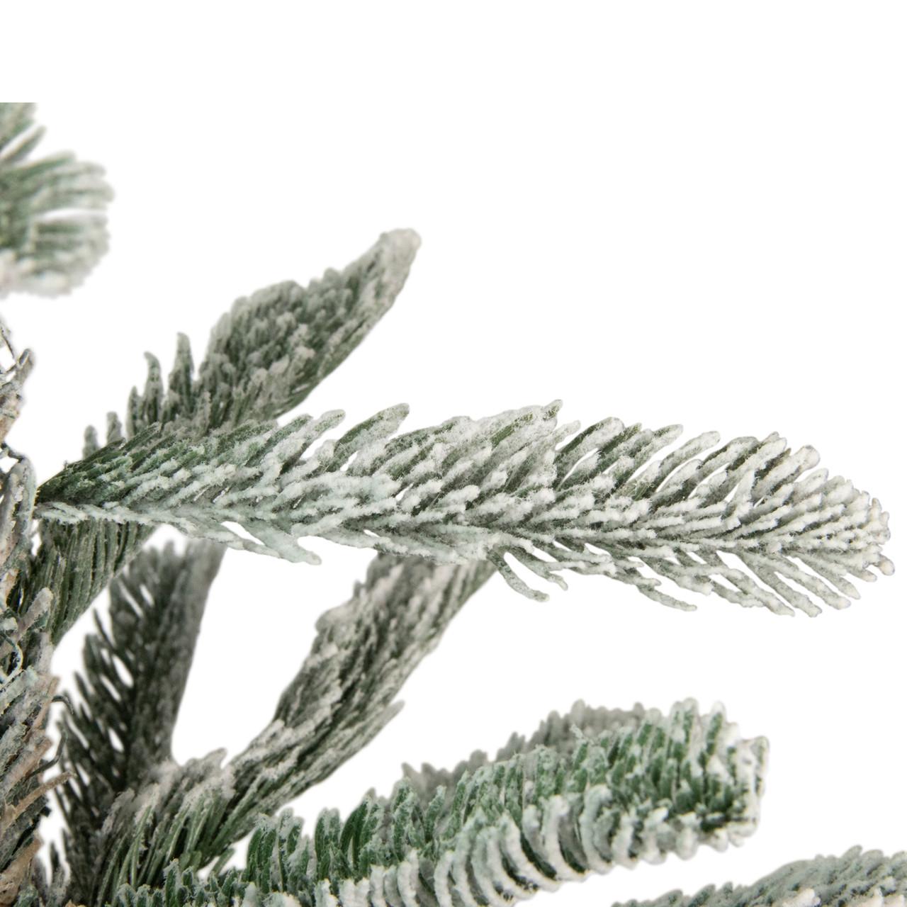 9\' Flocked Noble Fir Artificial Christmas Tree - Unlit | Christmas ...