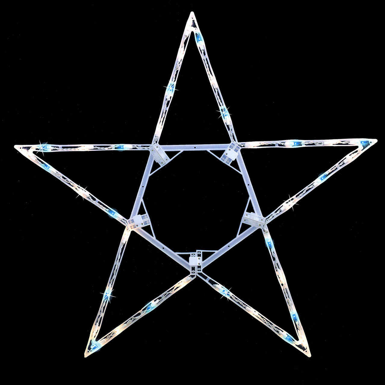 32 Quot Folding Lighted Twinkling Star Christmas Window