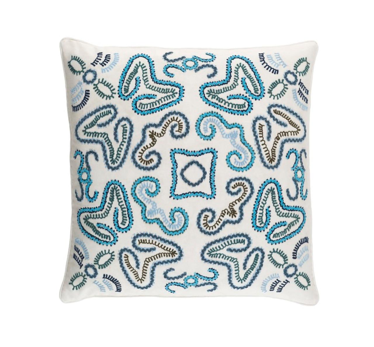 Cerulean Blue Throw Pillows : 22