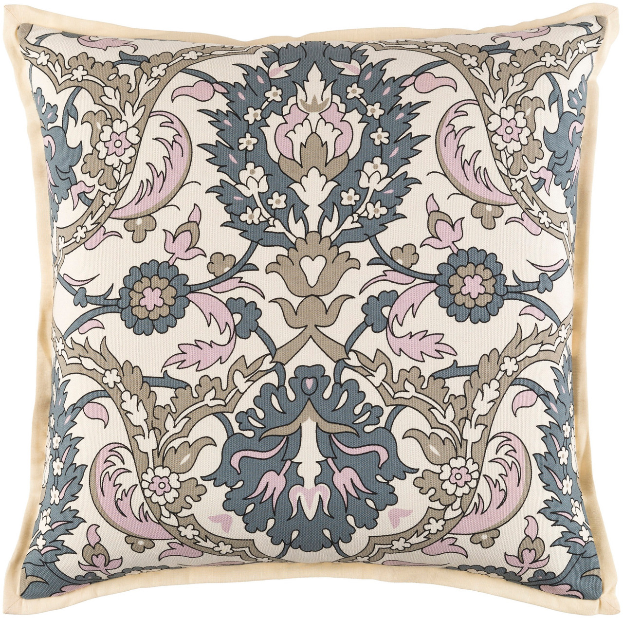 Blue And Pink Decorative Pillows : 18? Blush Pink, Blue Gray, Olive Green & Beige Woven Decorative Throw Pillow Christmas Central