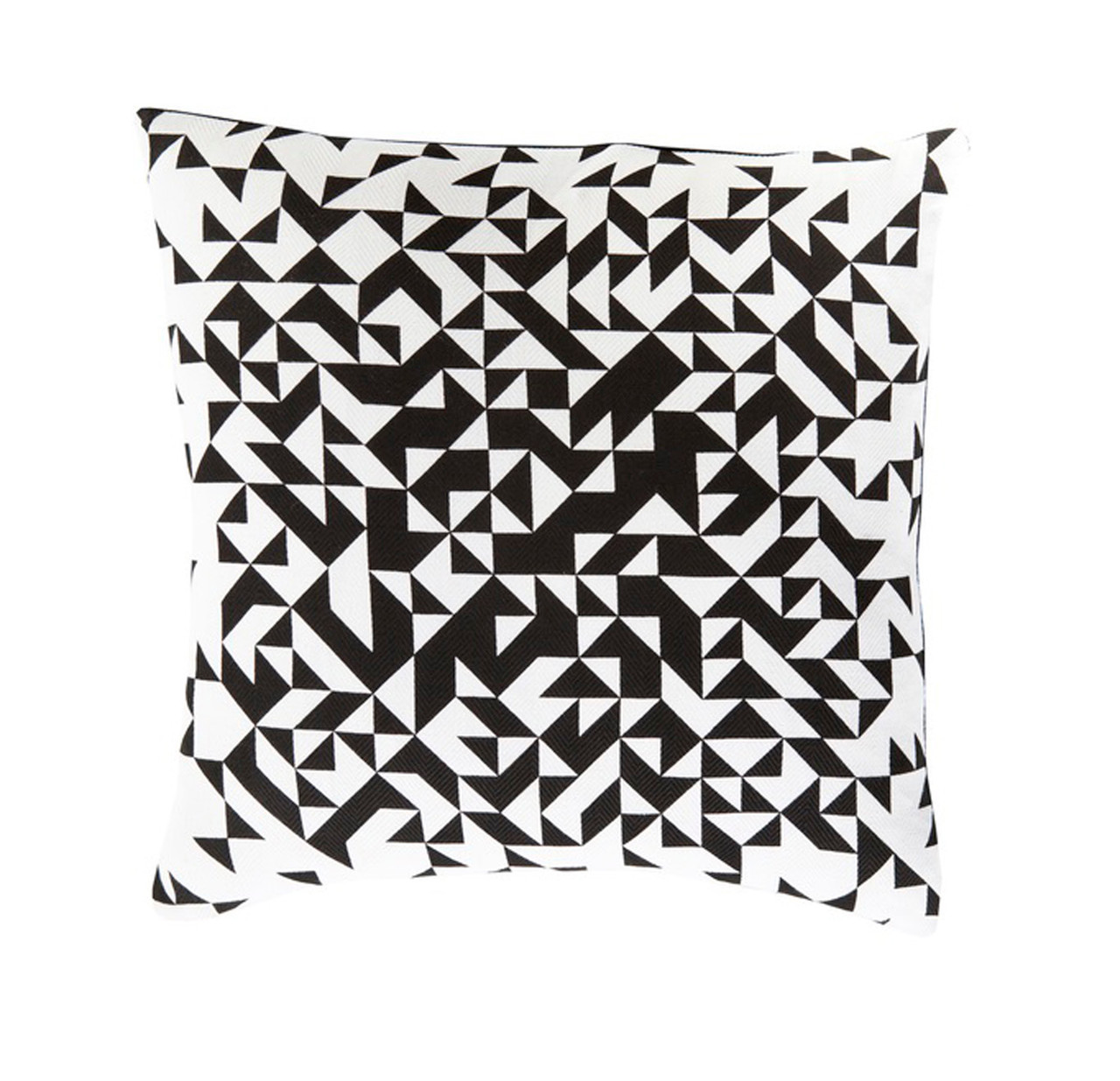 20 ink black and lace white contemporary decorative square throw pillow 31396022