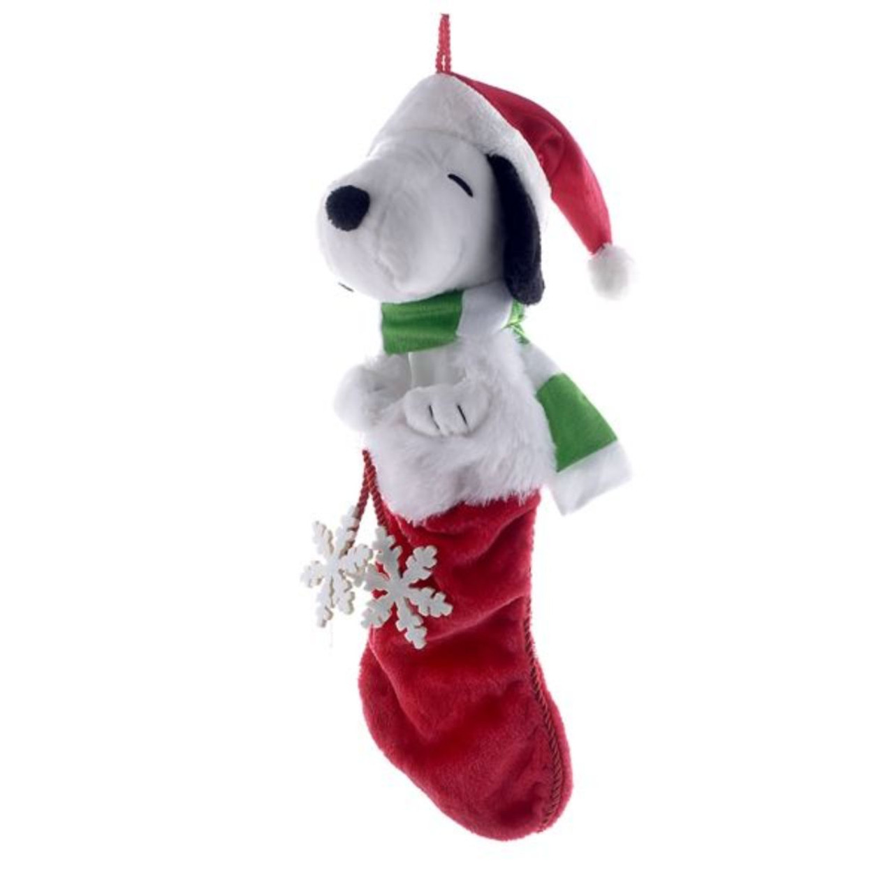 peanuts snoopy with snowflake christmas stocking 21 13383409 - Snoopy Christmas Stocking