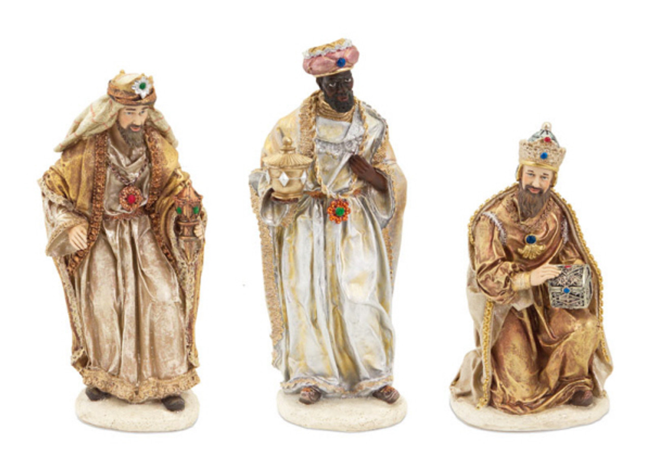 Set of 3 Christmas Nativity Scene Pieces With Three Wisemen 12 ...