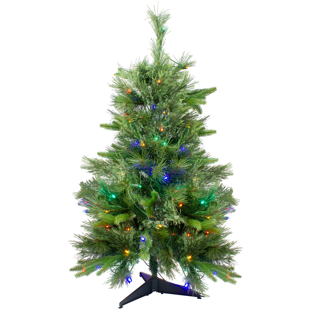 3 x 29 pre lit cashmere mixed pine full artificial christmas tree multi led lights 32265449 - Cashmere Christmas Tree