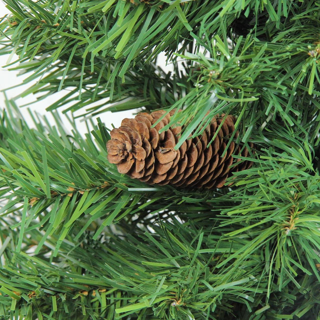 3 x 22 dakota red pine full artificial christmas tree with pine cones unlit 32266796 - Christmas Tree With Pine Cones