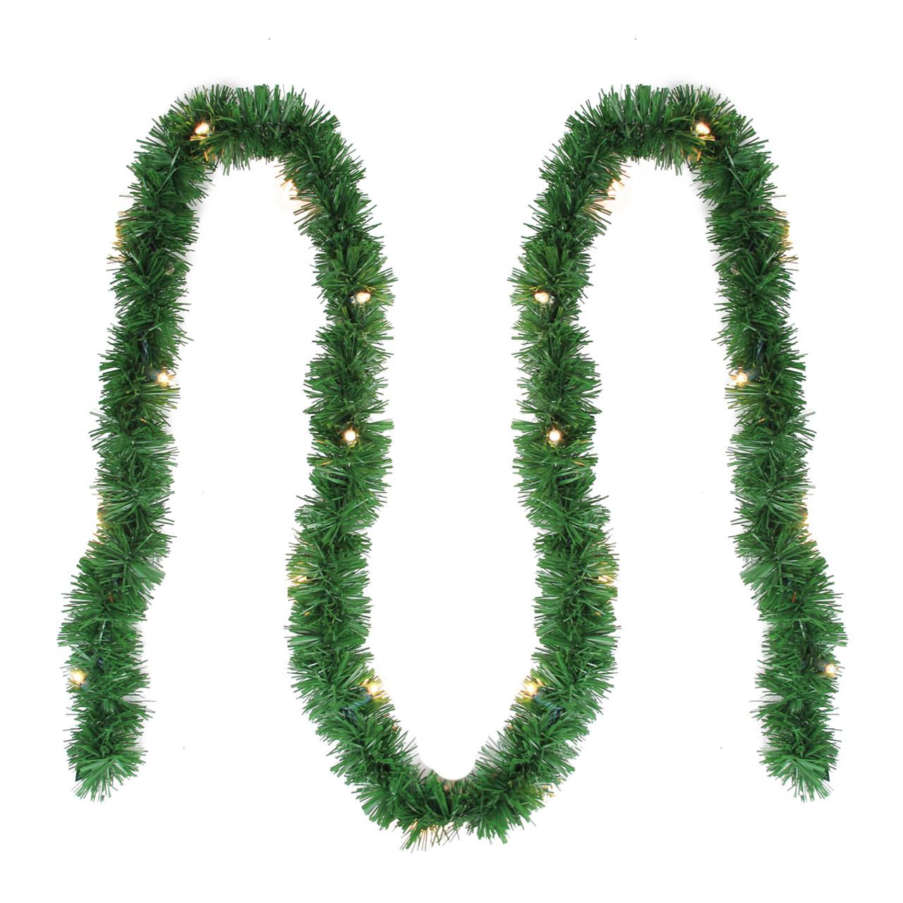 12 x 2 5 pre lit green pine artificial christmas garland clear